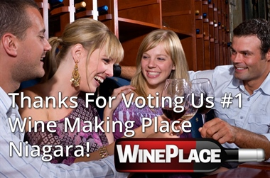 Thanks For Voting Us #1 Wine Making Place Niagara!